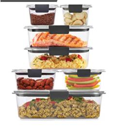 Rubbermaid Plastic Kitchen Storage Containers W  lids