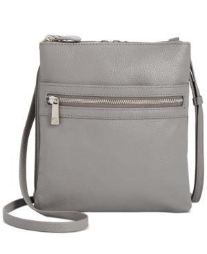 Giani Bernini Triple Zip Pebble leather Dasher Crossbody Retail   74 50