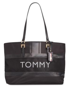 Tommy Hilfiger Julia Nylon Mesh Tote Retail   128 00