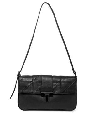 T Tahari Frida leather Flap Shoulder Bag Retail   228 00