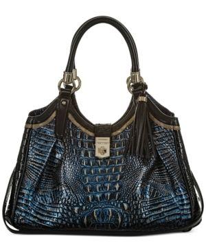 Brahmin Elisa Crowe leather Satchel Retail   435 00