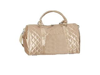 Goodhope Savvy Gold Quilted Satin Carry on Duffel Bag