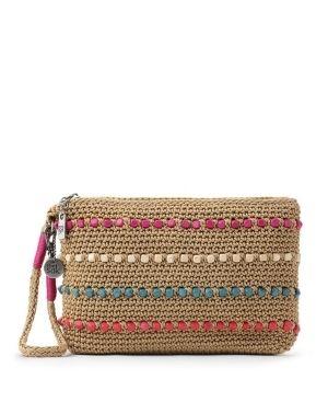 The Sak Sayulita Crochet Wristlet Vegan