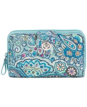 Vera Bradley Iconic Rfid Turnlock Wallet Retail   60 00