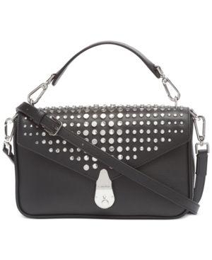 Calvin Klein leather lock Shoulder Bag Retail   268 00
