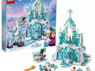 lEGO Disney Princess Elsa s Magical Ice Palace Toy Castle Building Kit with Mini Dolls 43172 Retail   79 99