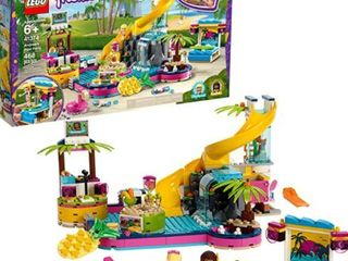 lEGO Friends Andrea s Pool Party 41374 Toy Pool Building Set with Andrea and Stephanie Mini Dolls for Pretend Play