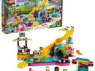 lEGO Friends Andrea s Pool Party Toy Pool Building Set with Mini Dolls for Pretend Play 41374