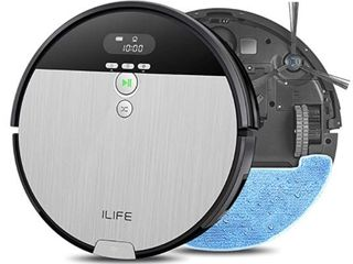 IlIFE V8s  2 in 1 Mopping Robot Vacuum Big 750ml Dustbin Enhanced Suction Inlet Zigzag Cleaning Path Ideal for Pet Hair Self Charging Robotic Vacuum