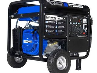 DuroMax XP10000E Gas Powered Portable Generator  Blue and Black Retail   999 99