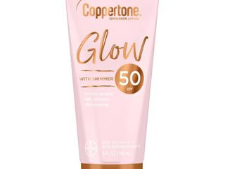 Coppertone Glow With Shimmer Sunscreen lotion   SPF 50   5 fl oz