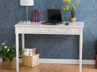 Waterfront 2 drawer White Writing Desk  Retail 158 99