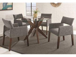 Carson Carrington Fagared Modern 2 piece Dining chair set   Grey  Retail 577 99