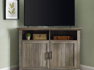 Reclaimed Barnwood The Gray Barn 44 inch Groove Door Corner TV Stand