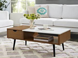 Acorn Carson Carrington Saltaro Faux Marble Top Coffee Table