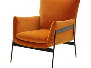 Orange  Divani Casa Joseph Modern Orange Fabric Accent Chair  Retail 668 49