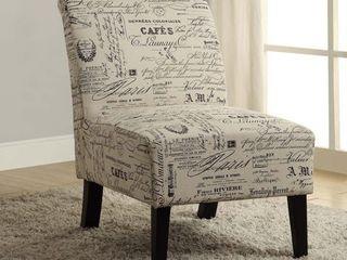 Porch   Den Bonner Written Text Print Accent Chair  Retail 122 99