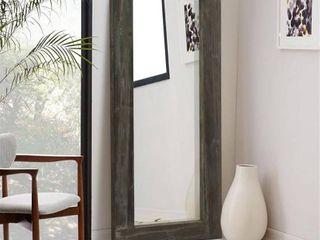 Rustic Wood Rectangular Freestanding Full length Floor Mirror living Room   58 x24  Retail 149 99