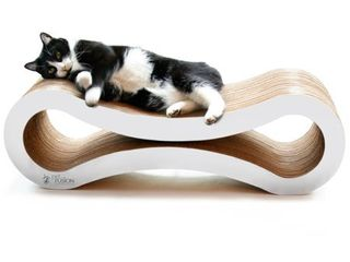 PetFusion Ultimate Cat Scratcher lounge   Bed   White   Not Inspected