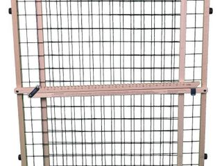 MyPet Extra Wide Wire Mesh Dog Gate   29 5 50   Brown