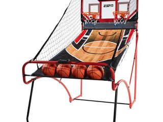ESPN EZ Fold 2 player Basketball Game with Polycarbonate Backboard and lED Scoring   Not Inspected