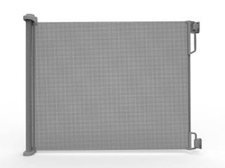 Perma Outdoor Retractable Gate  Extra Wide 71 in  Gray   Not Inspected