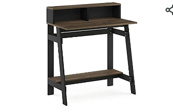 Furinno Simplistic A Frame Computer Desk  Columbia Walnut   Not Inspected