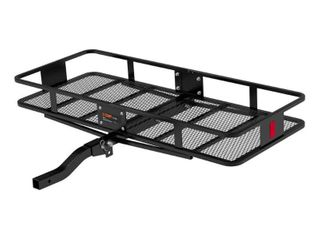 CURT 60 x24  Basket Style Cargo Carrier Folding Shank  HAS SOME RUST