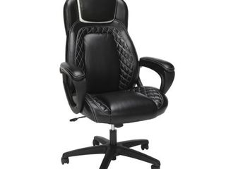 OFM Essentials Collection Racing Style SofThread leather High Back Office Chair  in White  ESS 6060 WHT