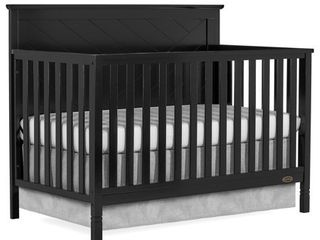 Dream On Me Skyline 5 in 1 Convertible crib  Black