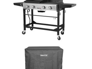 Royal Gourmet GD401C CR6008 22  Premium 4 Burner 48000 BTU Folding Gas Grill and Griddle With Cover