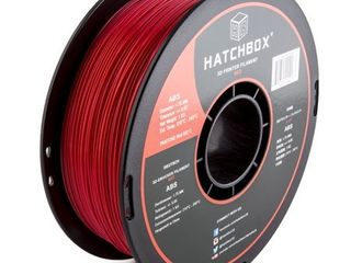 HATCHBOX 3D ABS 1KG1 75 RED ABS 3D Printer Filament  Dimensional Accuracy   0 05 mm  1 kg Spool  1 75 mm  Red