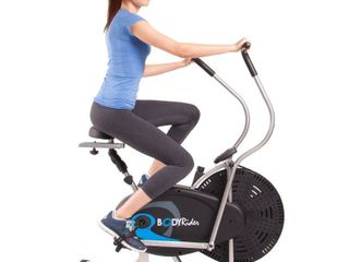 Body Rider Body Flex Sports Upright Exercise Fan Bike  Indoor Stationary Bike for Cycling