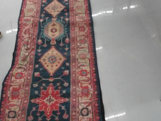 84 x29  runner rug with rug  mat  USED