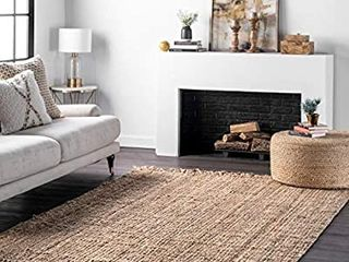 nulOOM Natura Collection Chunky loop Jute Rug  5  x 8  Natural