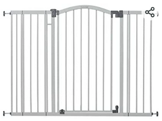 Summer Extra Tall   Wide Safety Baby Gate  Cool Gray Metal Frame a light   Not Inspected