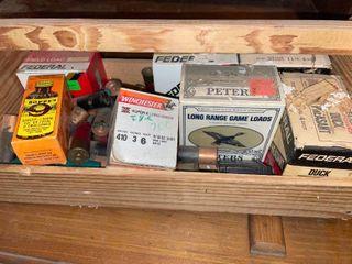 Box of Ammo  Mostly Shotgun Shells