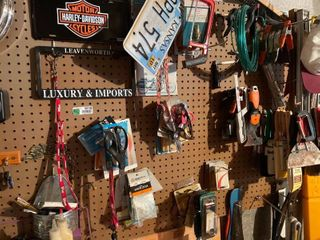 Contents of Wall Hooks  Painting Dry Wall Gear
