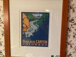 Framed Boulder Canyon Colorado Print