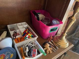 Shelf Contents  Antique Knick Knacks