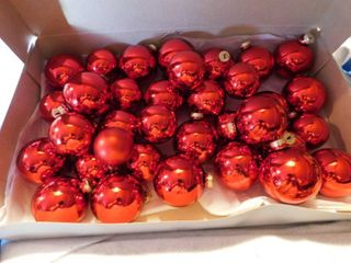 Red Glass Christmas Bulbs