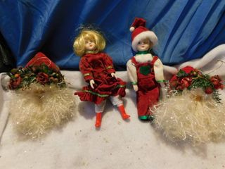 Santa Ornaments   Dolls