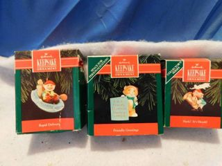 Three 1992 Hallmark Keepsake Ornaments