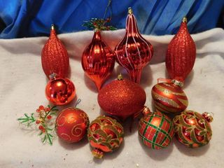 large lot Of Glittery Ornaments