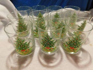 Spode Christmas Tree Glass Tumblers