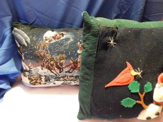 2 Christmas Pillows