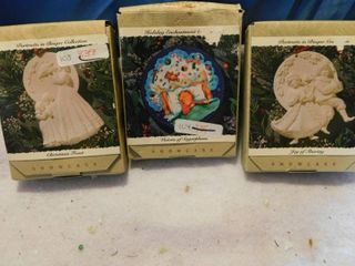 Three Collector Ornaments   NEW