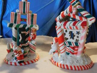 Ceramic Ribbon Candy Houses