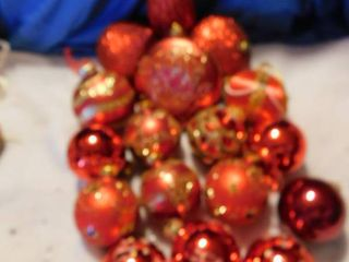 Red Ornaments  17 ea