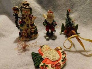 Set of 4 Ceramic Ornaments